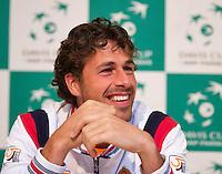 04-04-12, Netherlands, Amsterdam, Tennis, Daviscup, Netherlands-Rumania, Pressconference,