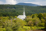The Community Church in Stowe village, Stowe, VT, USA