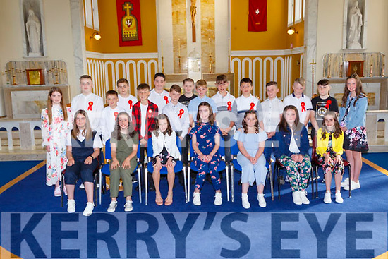 Currow NS 2020-21 sixth class who were confirmed in the Church of the Immaculate Conception Currow on Wednesday