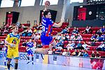Moritz Strosack (HBW Balingen #29) beim Spiel HSG Konstanz – HBW Balingen-Weilstetten beim BGV Handball Cup 2020.<br /> <br /> Foto © PIX-Sportfotos *** Foto ist honorarpflichtig! *** Auf Anfrage in hoeherer Qualitaet/Aufloesung. Belegexemplar erbeten. Veroeffentlichung ausschliesslich fuer journalistisch-publizistische Zwecke. For editorial use only.