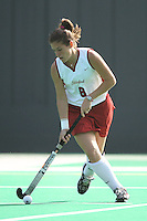 6 November 2007: Stanford Cardinal Hillary Braun during Stanford's 1-0 win against the Lock Haven Lady Eagles in an NCAA play-in game to advance to the NCAA tournament at the Varsity Field Hockey Turf in Stanford, CA.