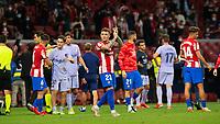 2nd October 2021; Estadio Wanda Metropolitano, Madrid, Spain; La Liga Football, Atletico de Madrid versus Futbol Club Barcelona; Kieran Trippier applauds the fans after the match