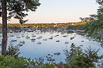 A view of the harbor from Asticou Terraces in Northeast Harbor, Maine, USA