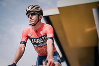 Domenico Pozzovivo (ITA/Bahrain-Merida) at the pre-race sign-on<br /> <br /> 104th Liège - Bastogne - Liège 2018 (1.UWT)<br /> 1 Day Race: Liège - Ans (258km)