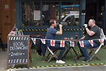 Super Saturday, London 4th July 2020 bars and pubs open with restrictions in place, social distancing, table service outside. Portobello Road young Londoners. 2020s UK