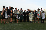 April 12, 2014: Winners circle with Arkansas Governor Mike Beebe and jockey Joe Bravo after the running of the Arkansas Derby at Oaklawn Park in Hot Springs, AR. Justin Manning/ESW/CSM