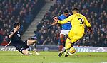 27.02.2019 Rangers v Dundee: Alfredo Morelos scores goal no 3