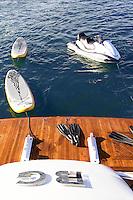 wooden boat deck