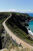 Damm La Coupée zwischen Sark und Little Sark, Insel Sark, Kanalinseln