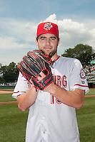 Harrisburg Senators pitcher Nathan Karns (13) during game against the Trenton Thunder at ARM & HAMMER Park on July 31, 2013 in Trenton, NJ.  Harrisburg defeated Trenton 5-3.  (Tomasso DeRosa/Four Seam Images)