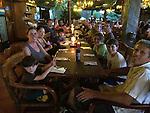 First dinner in Costa Rica - at El Avion in Manuel Antonio