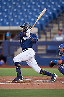 AZL Brewers Blue Arbert Cipion (23) at bat during an Arizona League game against the AZL Rangers on July 11, 2019 at American Family Fields of Phoenix in Phoenix, Arizona. The AZL Rangers defeated the AZL Brewers Blue 5-2. (Zachary Lucy/Four Seam Images)