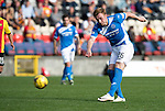 Partick Thistle v St Johnstone…10.09.16..  Firhill  SPFL<br />Liam Craig has a shot at goal<br />Picture by Graeme Hart.<br />Copyright Perthshire Picture Agency<br />Tel: 01738 623350  Mobile: 07990 594431