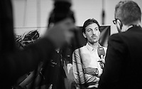 Cancellara interviewed by Suisse Television ahead of 'Ciao Fabian'; his farewell event in 't Kuipke in Gent/Belgium after retiring from pro racing (november 2016)