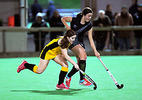 Action from the girls' premier one Wellington Hockey match between Wellington Girls College and St Oran's College at National Hockey Stadium in Wellington, New Zealand on Friday, 7 August 2020. Photo: Dave Lintott / lintottphoto.co.nz