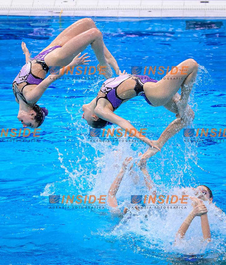 Artistic Swimming<br /> Highlights Routine<br /> Final<br /> HUN HUNGARY<br /> BARTA Nike'<br /> CSILLING Katalin<br /> FARKAS Linda<br /> GACS Boglarka<br /> GOTZ Lilien<br /> HATALA Hanna<br /> HUNGLER Szabina<br /> REGENYI Adelin<br /> RENYI Luca<br /> SZABO Anna Viktoria<br /> APATHY Anna<br /> CSOPPU Dalma<br /> XXXV LEN European Aquatic Championships<br /> Duna Arena<br /> Budapest  - Hungary  11/5/2021<br /> Photo Pasquale Francesco Mesiano / Deepbluemedia / Insidefoto