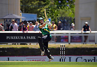 Stags batsman Dane Cleaver during the men's Dream11 Super Smash T20 cricket match between the Central Stags and Northern Knights at Pukekura Park in New Plymouth, New Zealand on Wednesday, 30 December 2020. Photo: Dave Lintott / lintottphoto.co.nz