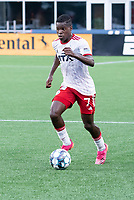 FOXBOROUGH, MA - JUNE 26: Bernard Kamungo #7 of North Texas SC during a game between North Texas SC and New England Revolution II at Gillette Stadium on June 26, 2021 in Foxborough, Massachusetts.