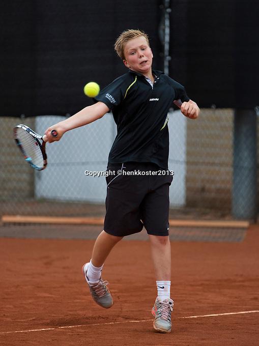07-08-13, Netherlands, Rotterdam,  TV Victoria, Tennis, NJK 2013, National Junior Tennis Championships 2013, Luuk van Eeuwen<br /> <br /> <br /> Photo: Henk Koster