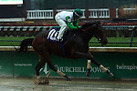 November 28, 2015 Crooked Stick (Sophie Doyle) wins the 3rd race at Churchill Downs, a one mile race for two year old maiden fillies. Owner Fred M. Allor, trainer Alex Clarkson. By Blame x Tee Off (Thunder Gulch.) ©Mary M. Meek/ESW/CSM