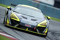 Alain Valente & Michael Benyahia, McLaren 570S GT4, Team Rocket RJN exit Goddards during the British GT & F3 Championship on 10th July 2021