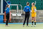Mannheim, Germany, April 10: During the 1. Bundesliga women fieldhockey match between Mannheimer HC (red) and Harvestehuder THC (yellow) on April 10, 2021 at Am Neckarkanal in Mannheim, Germany. Final score 2-1 (HT 0-1). (Copyright Dirk Markgraf / www.265-images.com) ***