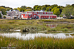 Red gallery on Duck Creek, Wellfleet, Cape Cod, MA, USA