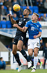St Johnstone v Dundee…25.08.18…   McDiarmid Park     SPFL<br />Steven Caulker and Callum Hendry<br />Picture by Graeme Hart. <br />Copyright Perthshire Picture Agency<br />Tel: 01738 623350  Mobile: 07990 594431