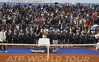 Tenis, Serbia Open 2011.Final.Novak Djokovic (SRB) Vs. Feliciano Lopez (ESP).Milica Markovic, during ceremony.Beograd, 01.05.2011..foto: Srdjan Stevanovic