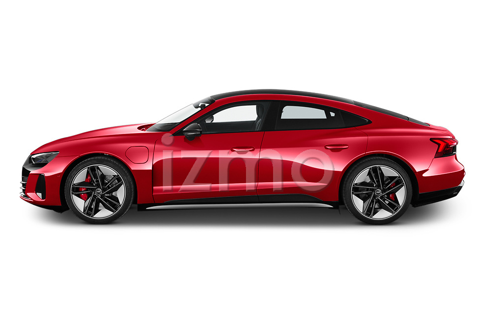 Car Driver side profile view of a 2021 Audi e-tron-GT RS 4 Door Sedan Side View