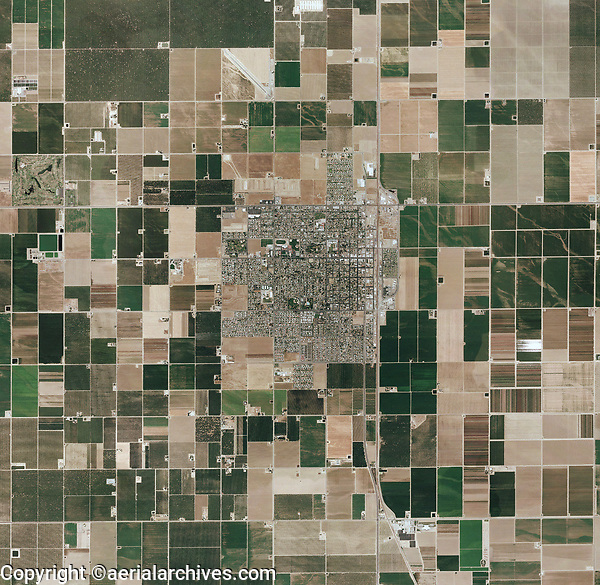 aerial photo map of Wasco, Kern County, California