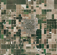 aerial photo map of Wasco, Kern County, California