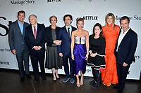 "LOS ANGELES, USA. November 06, 2019: Scott Stuber, Alan Alda, Julie Hagerty, Noah Baumbach, Scarlett Johansson, Martha Kelly, Laura Dern & David Heyman at the premiere for ""Marriage Story"" at the DGA Theatre.<br /> Picture: Paul Smith/Featureflash"