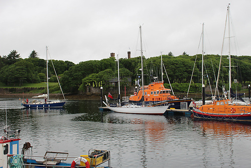 The famous yacht Gypsy Moth moored at Stornoway Harbour