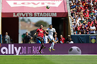 Santa Clara, CA - July 23, 2017: Manchester United and Real Madrid play in an International Champions Cup match at Levi's Stadium. Final score Manchester United 2, Real Madrid 1.