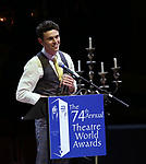Charlie Stemp during the 74th Annual Theatre World Awards at Circle in the Square on June 4, 2018 in New York City.