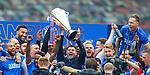 15.05.2021 Rangers v Aberdeen: Steven Gerrard with Premiership trophy