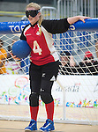 Ashlie Andrews, Toronto 2015 - Goalball.<br /> Canada's Women's Goalball team plays against USA in the semi finals // L'équipe féminine de goalball du Canada joue contre les États-Unis en demi-finale. 14/08/2015.