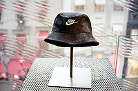 NEW YORK, NEW YORK - FEBRUARY 22: A hat wit the brand NIKE, is seen in a Nike store, on February 22, 2021 in New York. NIKE, Inc. (NYSE:NKE) will trade ex-dividend in the next days , being NIKE's earnings almost flat over the past five years.  (Photo by John Smith/VIEWpress)