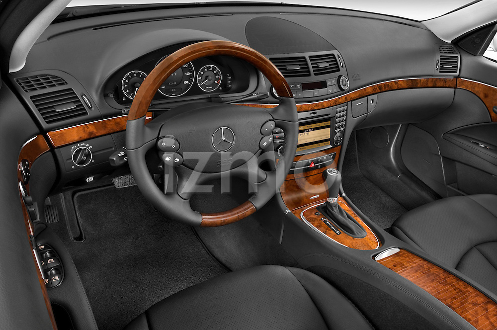 High angle dashboard view of a  2009 Mercedes E Class Wagen 350