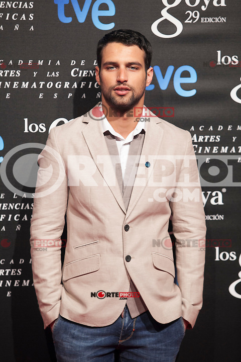 Actor Jesus Castro poses before the 2015 Goya Awards nominee ceremony in Madrid, Spain. January 19, 2015. (ALTERPHOTOS/Victor Blanco)