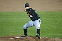 Appalachian State Mountaineers relief pitcher Shane Roberts (30) in action against the Charlotte 49ers at Atrium Health Ballpark on March 23, 2021 in Kannapolis, North Carolina. (Brian Westerholt/Four Seam Images)