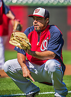 20 May 2014: Washington Nationals infielder Anthony Rendon warms up prior to a game against the Cincinnati Reds at Nationals Park in Washington, DC. The Nationals defeated the Reds 9-4 to take the second game of their 3-game series. Mandatory Credit: Ed Wolfstein Photo *** RAW (NEF) Image File Available ***