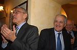 """CESARE PREVITI E ANTONIO BALDASSARRE<br /> 75° COMPLEANNO DI LINO JANNUZZI - """"DA FORTUNATO AL PANTHEON"""" ROMA 2003"""