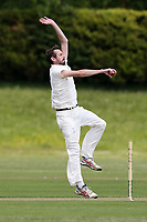 A Smith in bowling action for Billericay during Billericay CC (batting) vs Hornchurch CC, Hamro Foundation Essex League Cricket at the Toby Howe Cricket Ground on 12th June 2021