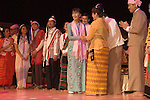 Daw Aung San Suu Kyi. Meeting with the people of Burma at the Royal Festival Hall London UK 22 June 2012. Artists who have been performing.