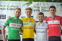 Tour jersey leaders after the NZ Cycle Classic stage two of the UCI Oceania Tour in Wairarapa, New Zealand on Monday, 23 January 2017. Photo: Dave Lintott / lintottphoto.co.nz