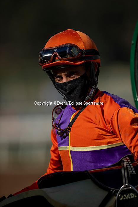 December 26, 2020: John Velazquez at Santa Anita Park in Arcadia, California on December 26, 2020. Evers/Eclipse Sportswire/CSM