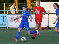 Sien Vandersanden (10) of KRC Genk in action during a female soccer game between  Racing Genk Ladies and White Star Woluwe on the 8 th matchday of play off 2 in the 2020 - 2021 season of Belgian Scooore Womens Super League , tuesday 18 th of May 2021  in Genk , Belgium . PHOTO SPORTPIX.BE | SPP | JILL DELSAUX