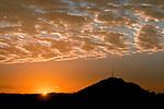 Sunrise, stormy sky, Jackson Butte, Calif.